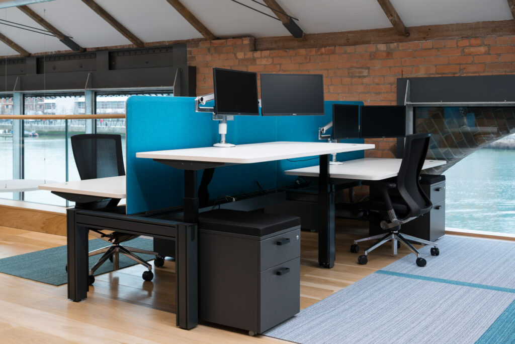 height adjustable desking