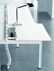 Adapt office furniture range - cable management